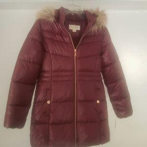Youth Michael Kors Puffer Coat w/Foe Fur Hood